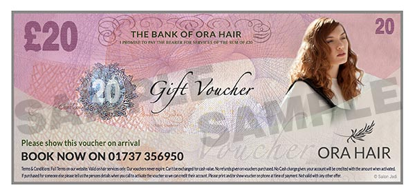 Blonde Hairdressers gift voucher