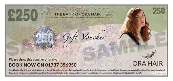 Banstead Hairdressers gift voucher