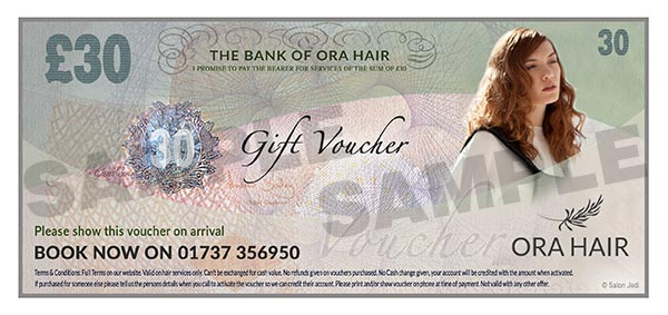 Banstead Hairdressers gift voucher